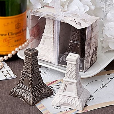 Eiffel Tower Design Salt and Pepper Shakers