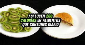 Es muy común que al ir gimnasio el aparato te diga cuántas calorías vas quemando con el ejercicio. Para que tengas una idea de cuánto es el equivalente a 200 calorías, te mostraremos unas imágenes con deliciosos alimentos que comemos a diario. Después de ver esto entendí por qué no bajo de peso aunque vaya …