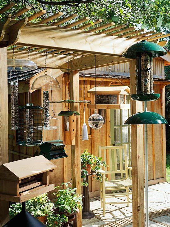 Garden Bird Feeder Station Woodworking Projects Amp Plans