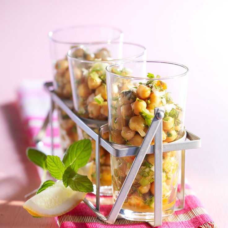 Voir la recette de la salade de pois chiche