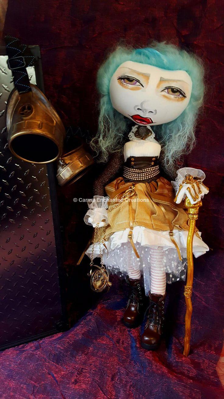Philomena Ashworth , Steampunk traveller  © Carma Enchanted dolls