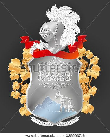 Vector heraldic royal crests coat of arms. Heraldry template. Family symbol. Good for wedding gift or anniversary present. - stock vector