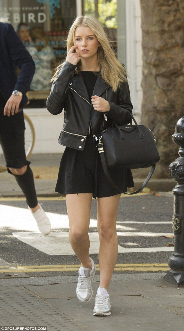 Day off: Lottie Moss  was spotted enjoying a casual lunch date with pals in Chelsea, where she was joined by none other than pop star Conor Maynard