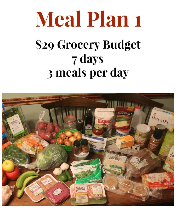 29 Grocery Budget Challenge Meal Plan 1 Cooking on a