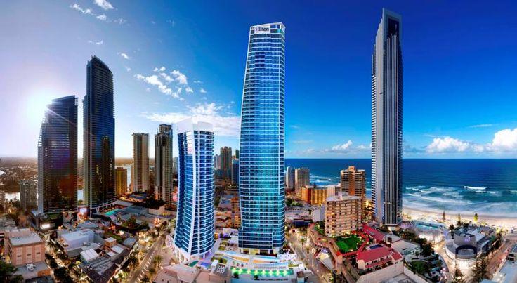 HOTEL|オーストラリア・ゴールドコーストのホテル>パノラマビューの豪華なアパートメント>ヒルトン サーファーズ パラダイス レジデンス(Hilton Surfers Paradise Residences)