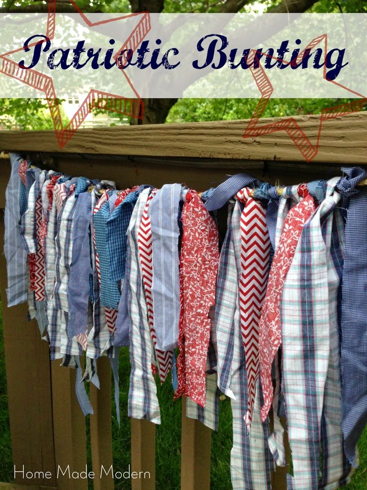 Home Made Modern: Tightwad Tuesday: Patriotic Bunting from Men's Shirts