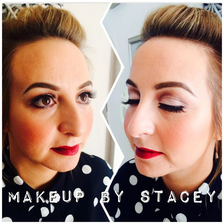 Classic soft eye and red lip