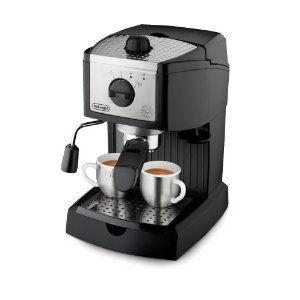 De'Longhi EC155 15 BAR Pump Espresso and Cappuccino Maker --- http://www.pinterest.com.gp1.me/156