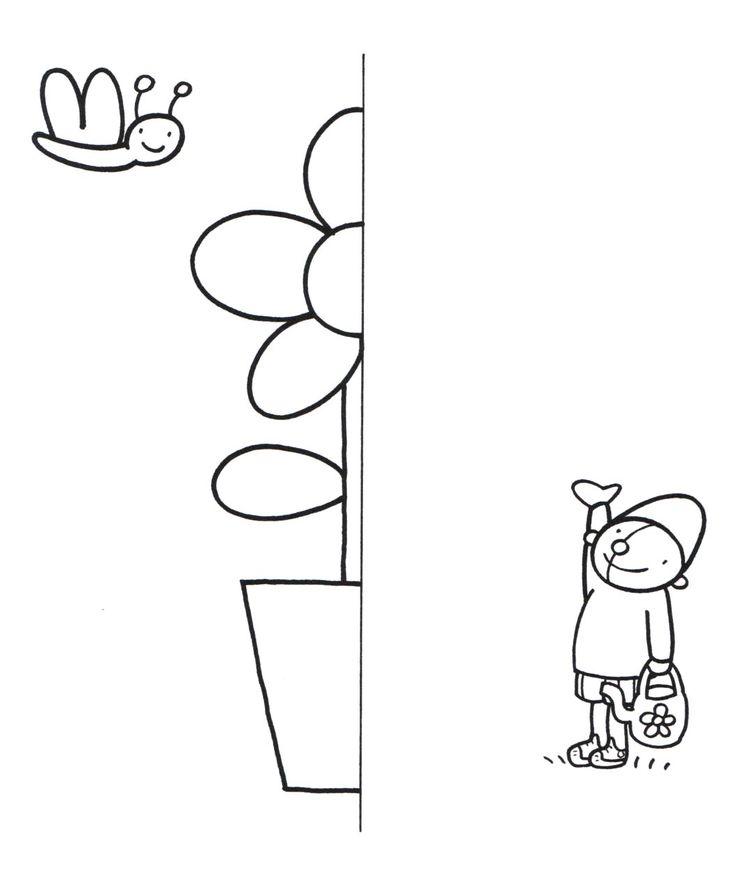 oog- handcoördinatie fase 4: halve tekening afmaken