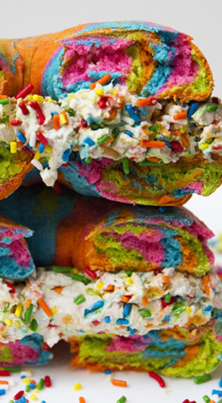How to make your own rainbow bagel recipe