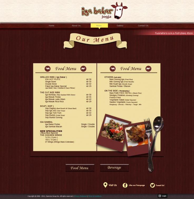 Web Design | Iga Bakar Jogja | Kreavi.com