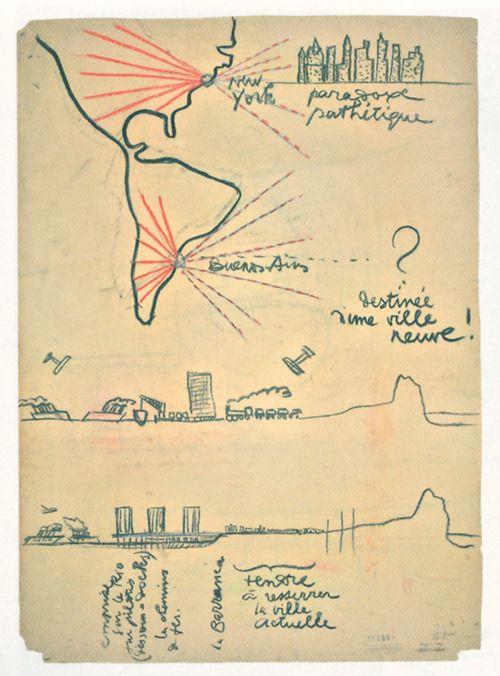 corbusier sketch of buenos aires