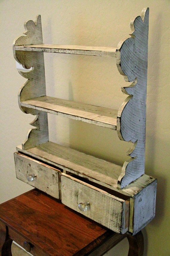 French Country Wall Shelf Cottage Chic Wall Shelf