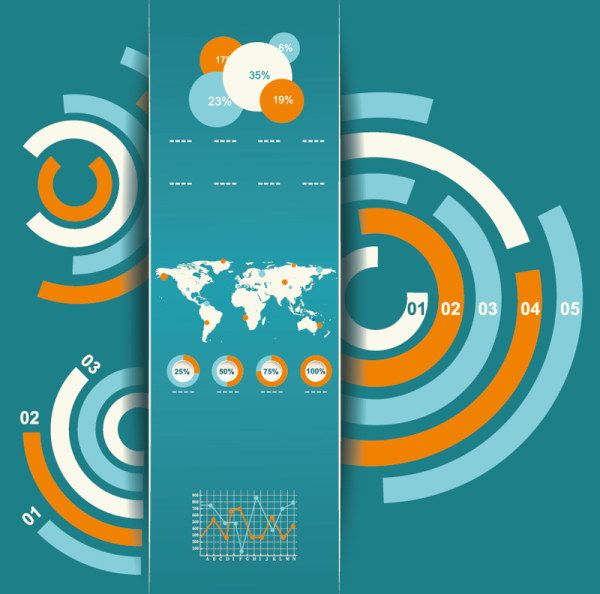Free infographic vector graphs charts bars and design elements