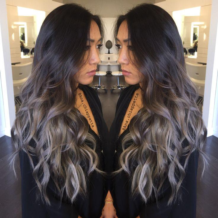 Silver hair, grey hair, balayage, ombré, sombre, blue grey, @colorbyana Cristophe salon Newport Beach