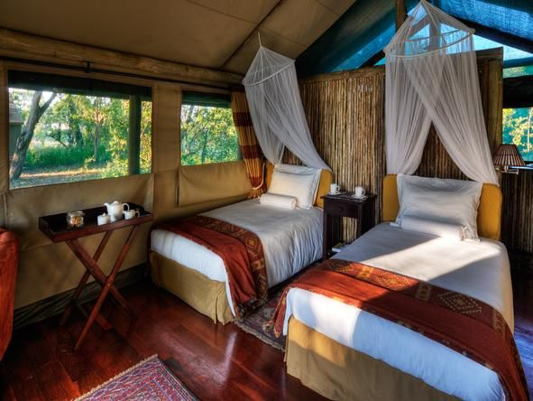 Shinde Camp - Bedroom - #Botswana #Romantic #Beds #weloveafrica