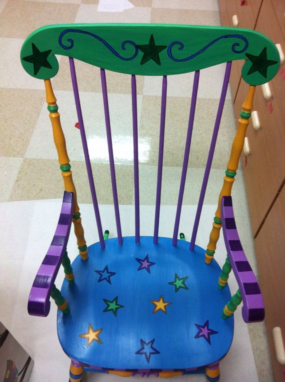 Teacher Rocking Chair by ThePaintedTurtleShop on Etsy