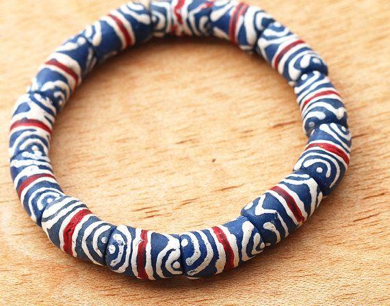 African Recycled Beads Krobo Beads Barrel Beads  by Krobobeads