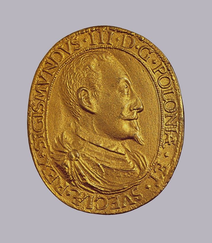 Gold medal with bust of Sigismund III Vasa commemorating the birth of his son Ladislaus Sigismund by Anonymous from Poland, 1595, Muzeum Narodowe w Krakowie (MNK)