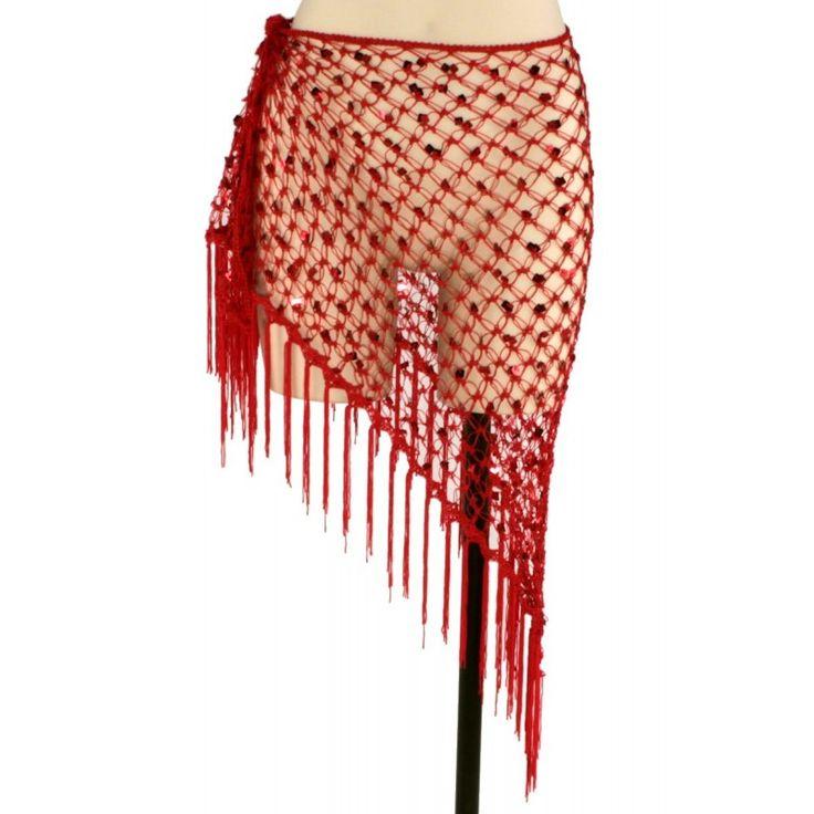 ceinture de danse orientale tribal filet rouge aussi. Black Bedroom Furniture Sets. Home Design Ideas