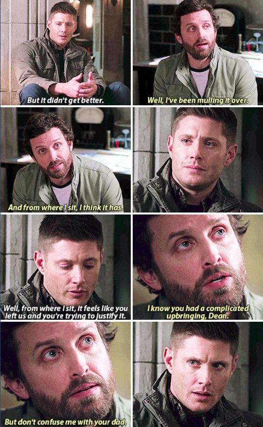 Dean's face at the end though is just 'Bitch, what did you say?!?'