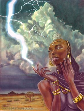 Oya- Orisha of change and lightning. She is offered eggplant and her sacred number is 9 #lucumi #orisha #oya