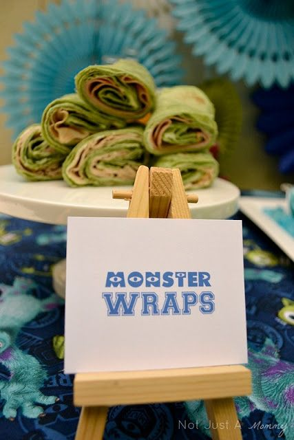 Real Party/Fiesta Friday - Lunchtime At Monsters University: Monster Spinach Wraps