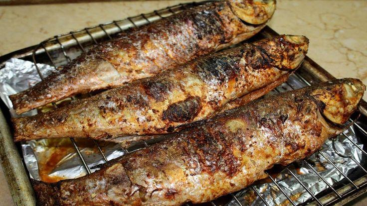 السمك البوري المشوي في الفرن وطريقة التسوية الصح علشان ماينشفش Food Pork Turkey