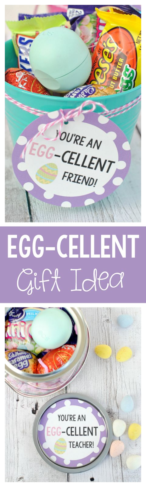 What a cute gift idea for a friend at Easter!