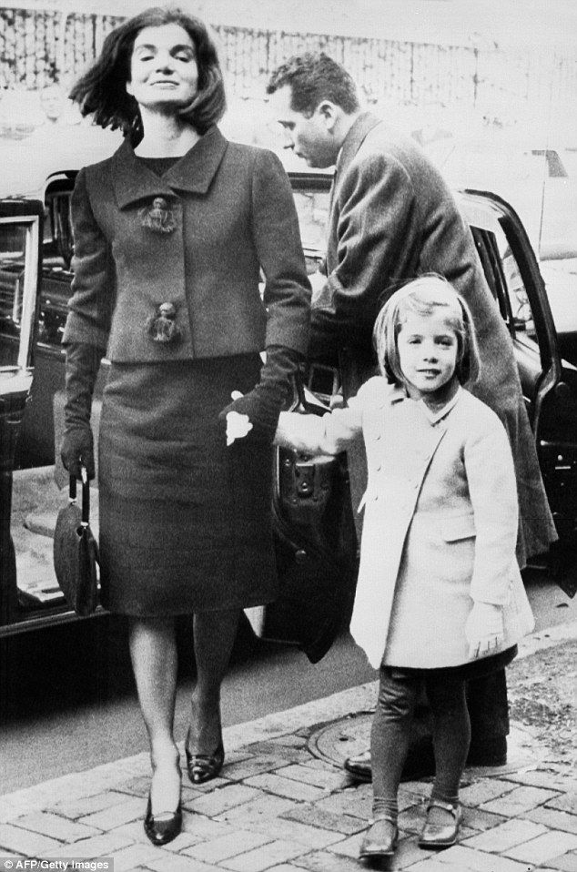 Source of support: Caroline pictured with her late mother on December 6 1963 arriving at t...