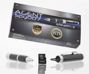 Cool Spy Gadgets: Agent Spy 007 Stealth Spy Pen Series 2 HD Hidden Video Camera-Best Premium Digital & Audio Quality with True HD-Free 8GB SD card included-Real 1280x720p-Easy use-Great for Secret Covert Capture or Web Cam -works with PC Mac-LIFETIME WARRANTY