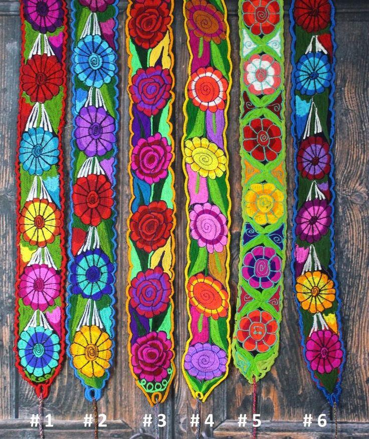 Floral Mexican Belts / Sash, Multiple colors, Wrap Around Hippie Boho Peasant #Handmade #Wrap