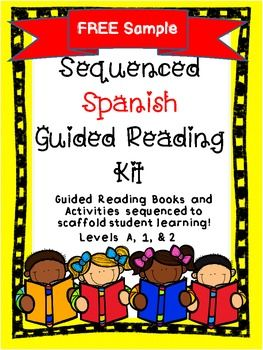 "This Freebie is a sample from ""Sequenced Spanish Guided Reading Kit.""  It includes:-""Insectos"" a level A guided reading book with suggested skills and sight words.-A cut-up sentence for students to rebuild the text in the book-A sight word worksheet to review the sight word addressed in the book.See the thumbnails to view the contents of this packet."