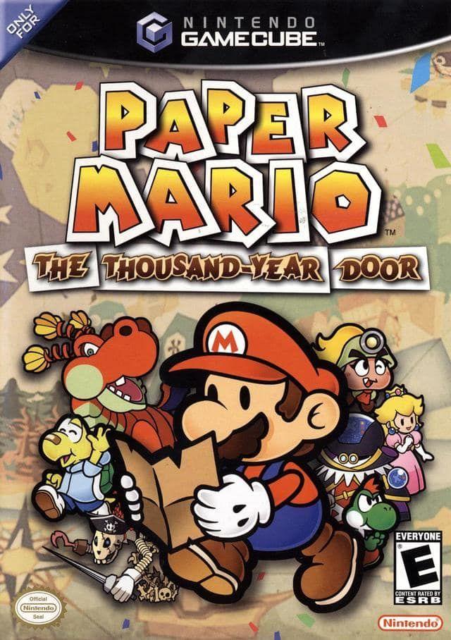 Paper Mario Thousand Year Door Gamecube Game
