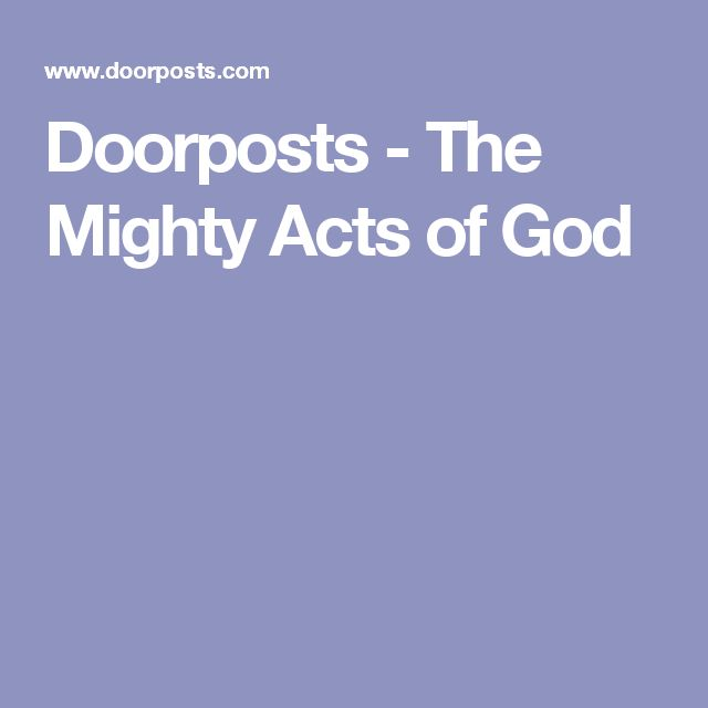 Doorposts - The Mighty Acts of God