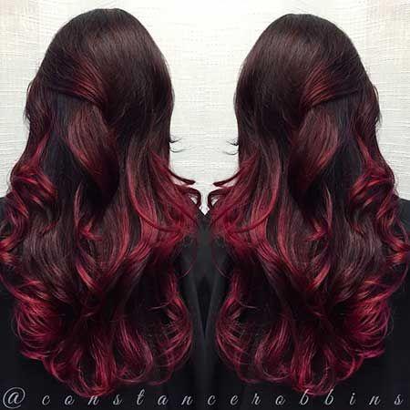 Derfrisuren.top 25+ Burgund Rot Haarfarbe Ombre Stil,Rot, Ombre, Farbe, Rot StilRot Rot ombre haarfarbe farbe burgund