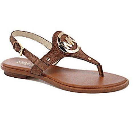 MICHAEL Michael Kors Aubrey Charm T-Strap Sandals