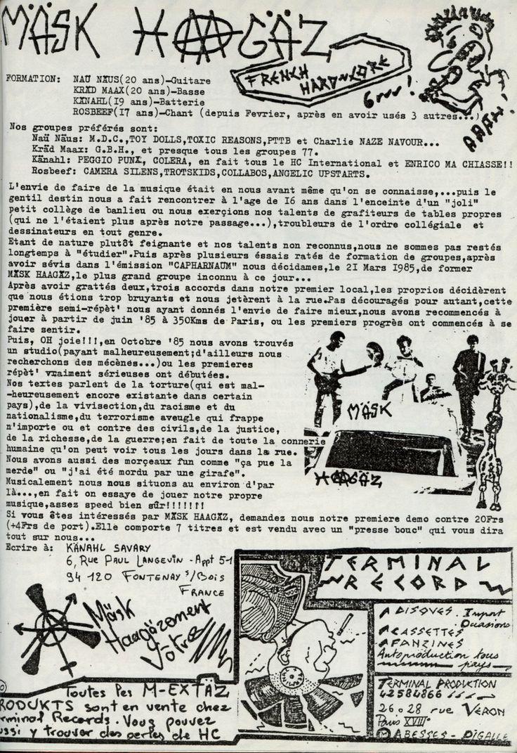 MASK HAAGAZ - Nuclear Nein Danke Tape (1986)