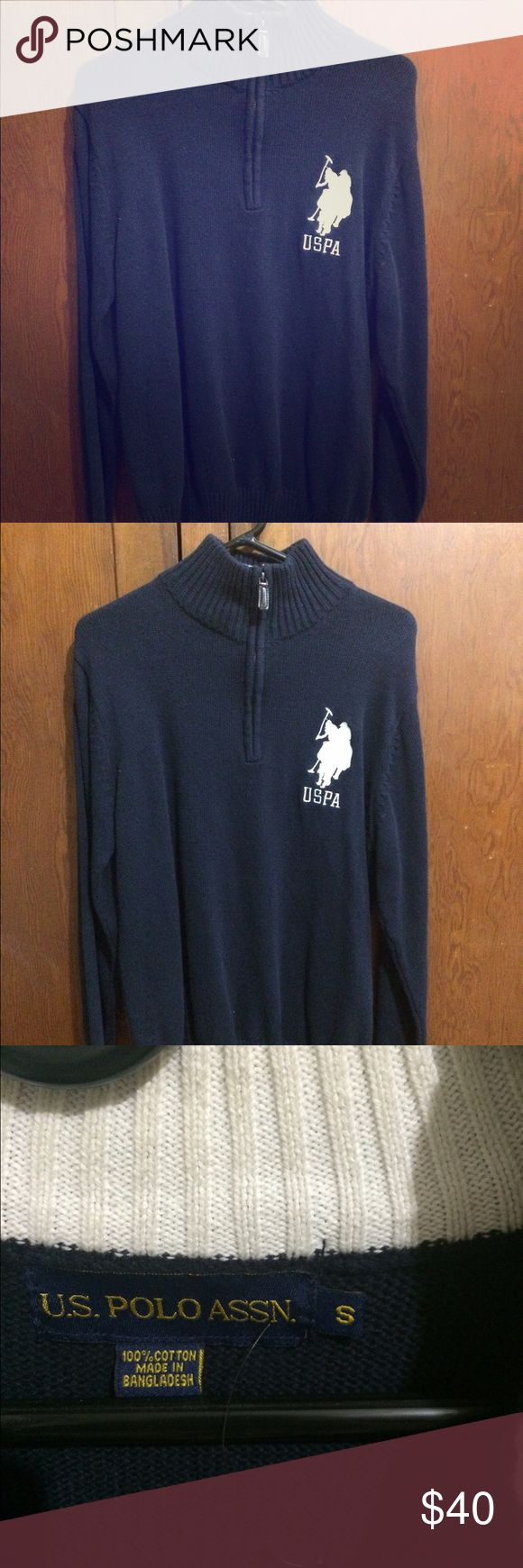 US Polo Association Pullover Sweater This is a like new US Polo Association one quarter zip pullover sweater still has the plastic attachment for the tag only worn a handful of times. US Polo Association Sweaters Zip Up