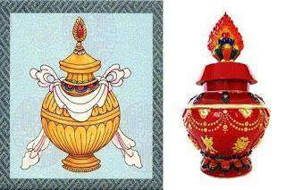 Vasul comorilor este un simbol al bogăției fără sfârșit atât pămantești, cât și celeste, spirituale, unul din cele opt simboluri auspicioase...