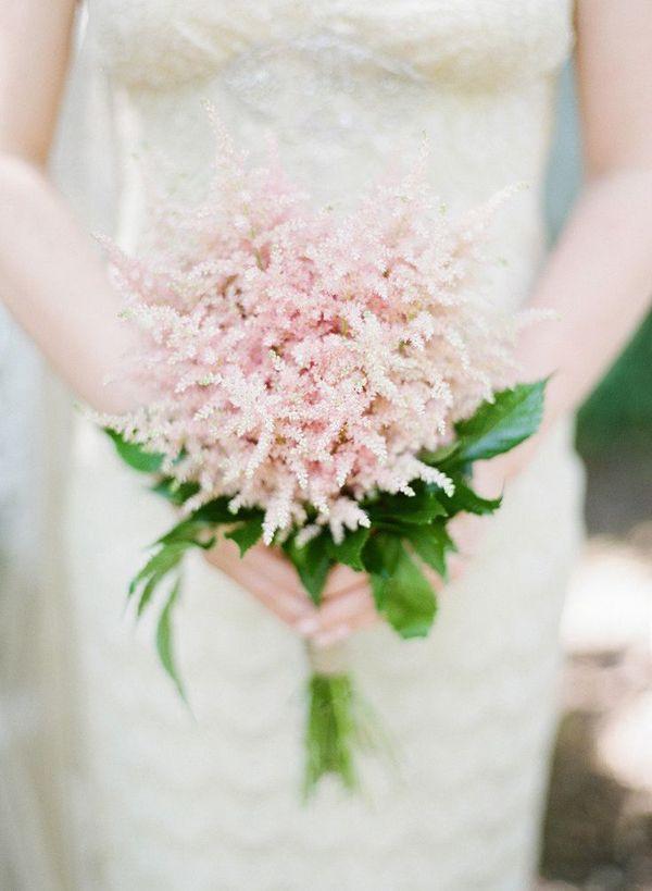 Pale pink astilbe bouquet pretty bridal or bridesmaid bouquet soft and beautiful/  weddingflowers/ www.callaraesfloralevents.com