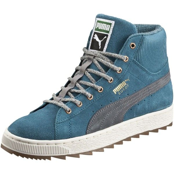 Puma Suede Winterized Rugged Mid Women's Sneakers ($75) ❤ liked on Polyvore  featuring shoes