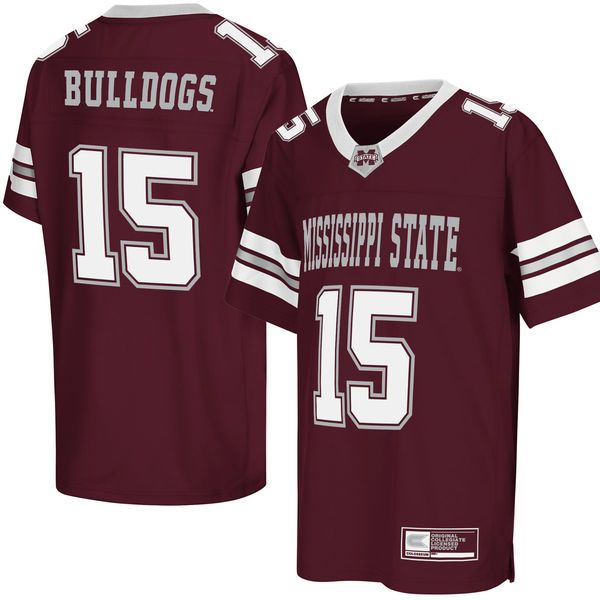 Mississippi State Bulldogs Colosseum Youth Football Jersey - Maroon - $44.99