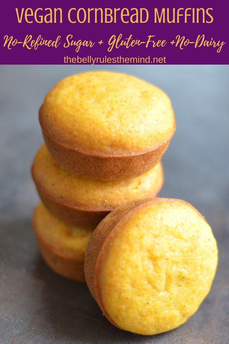 Vegan Cornbread Muffins No Refined Sugar Recipe Vegan Cornbread Muffins Vegan Cornbread Cornbread Muffins