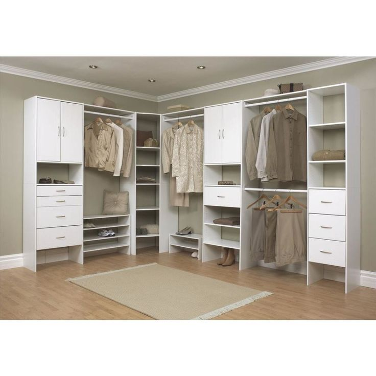 two shown stacked closetmaid selectives 20 in white stackable corner organizer at the home depot