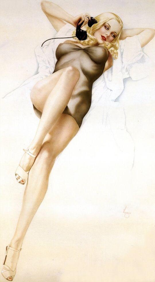 Alberto Vargas Gallery | Alberto Vargas pinup painting