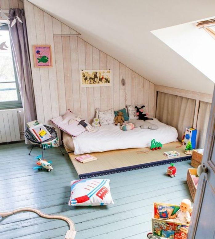 78 best images about chambre d 39 enfant on pinterest turquoise livres and bebe - Amenagement chambre montessori ...
