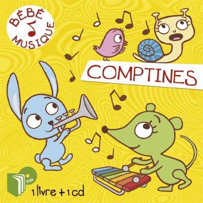Livre-CD, Bébé musique Comptines - Illustrations Marie Kyprianou - Les Editions Eveil et Découvertes