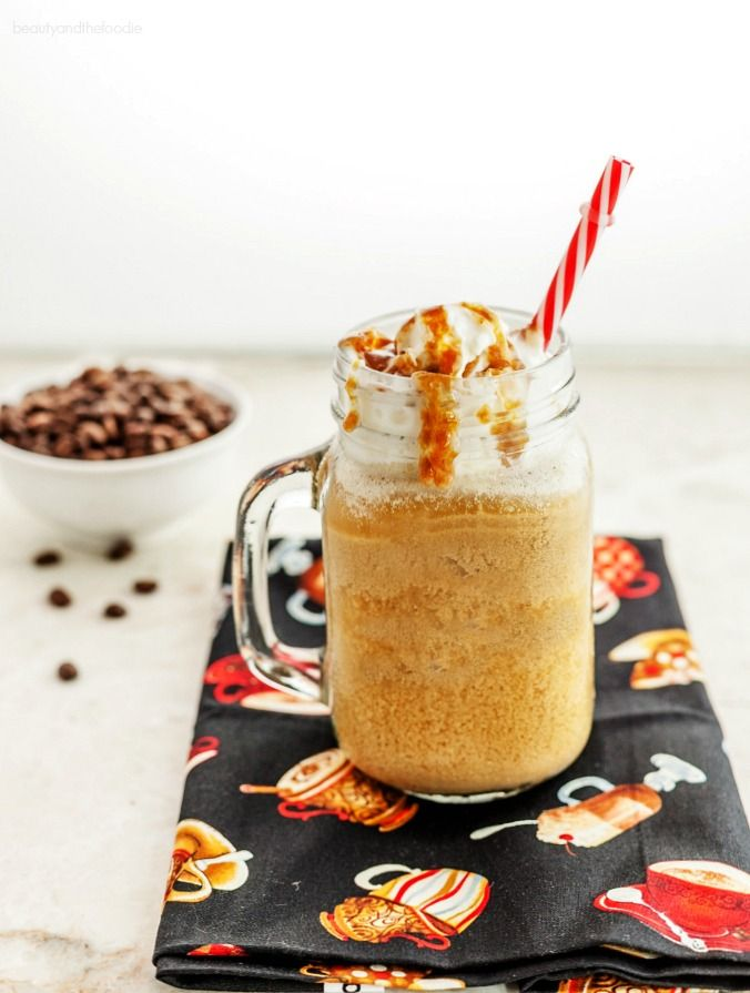 Vanilla Caramel Frappuccino Low carb with Paleo version. Gluten free, frosty…
