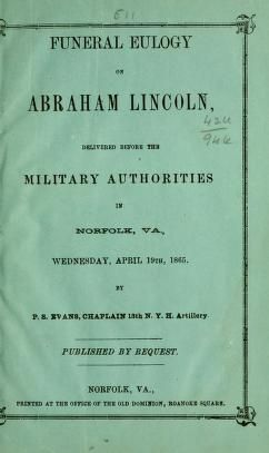Funeral eulogy on Abraham Lincoln, delivered be...